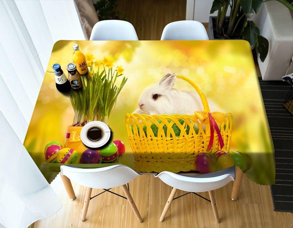 Barato Ropa de Cocina Mantel Rectangular - Mantel Personalizado 3D PG0013 - ecológico y sin Sabor - Impermeable de impresión Digital (Tamaño : Square -216cmx216cm)