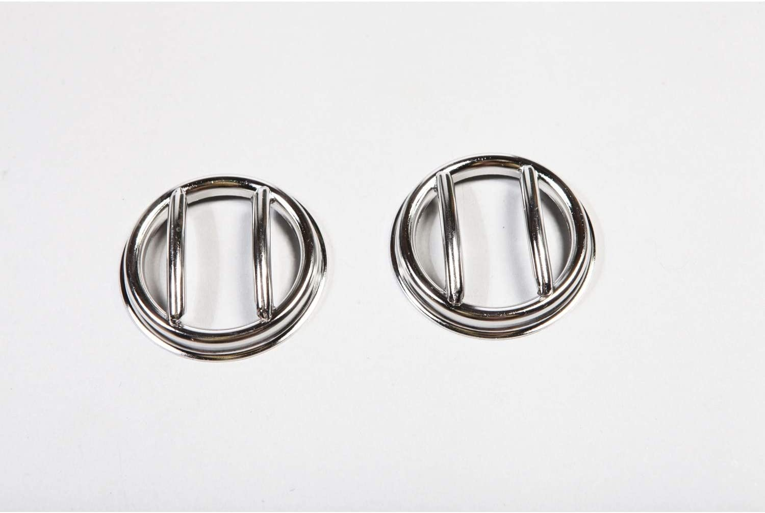 Pair Rugged Ridge 11142.12 Stainless Steel Euro Side Flare Light Guard