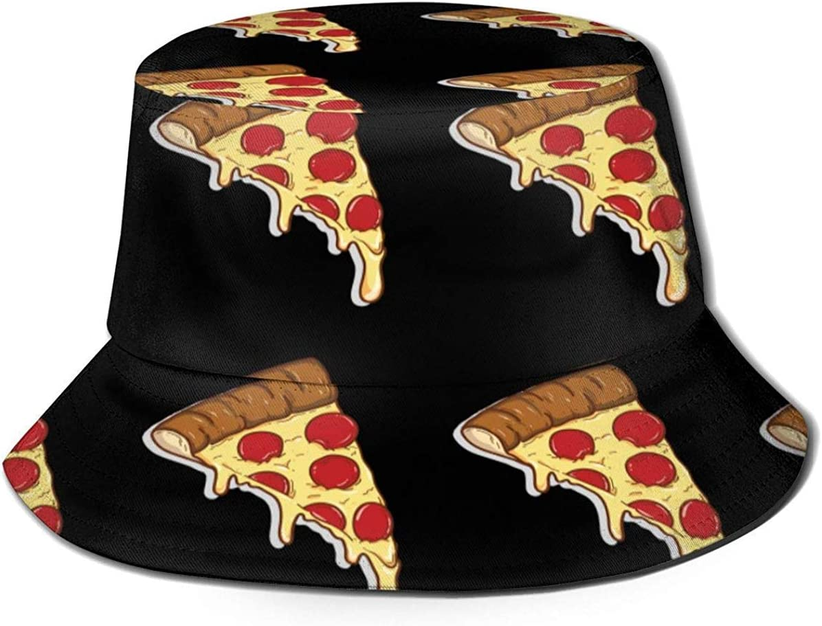Pizza Pattern Mens Womens Trends Fashion Bucket Hat Planet Star Planet Star Printed