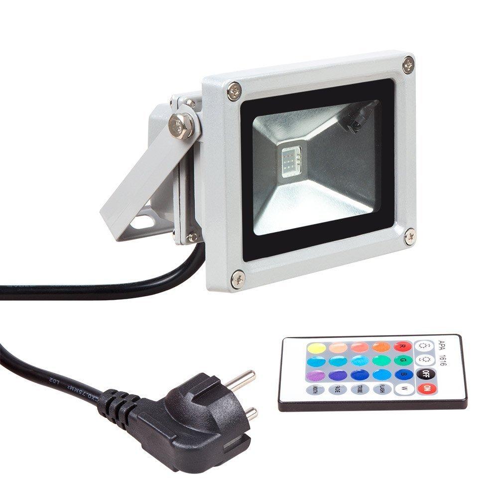 Blinngo led Scheinwerfer spotlight rgb led Strahler LED Fluter 10W flood light Outdoor Waterproof LED Spot dekoration für Garten [Energieeffizienzklasse A ++] [Energieklasse A++]