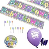 Baby Shower Decoration Party Kit, Balloons, Banners, Candles, Badge by Fun House