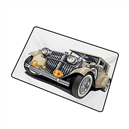Amazon com : duommhome Door mat Customization Cars Vintage Vehicle