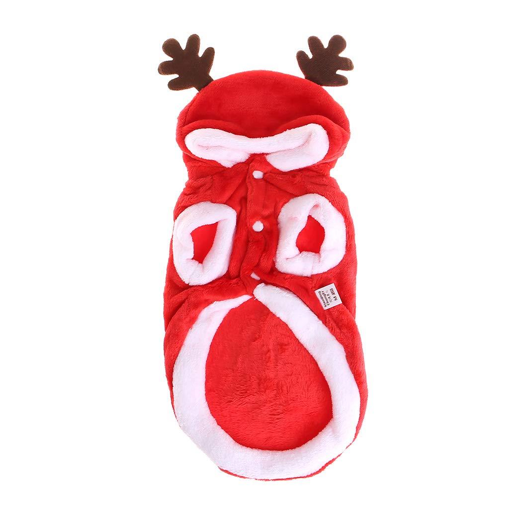 ECMQS Weihnachten Hund Kleidung Winte Mantel Kleidung Santa Kostü m Haustier Hund Weihnachten Kleidung Niedlichen Welpen Outfit Fü r Hund XS-XL