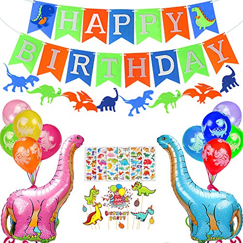 JoyJon Dinosaur Birthday Party Decoration Kit Party Supplies Favors For Baby Shower Boys Girls Birthday