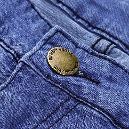 Slim Uomo Da Pantaloni Denim Jogging Jeans Uomo Primavera Ankle Pants Modaworld Fit Stretch length Sportivi Blue Sweatpants dXEtBqxw