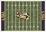 LSU Tigers NCAA College Home Field Team Area Rug 5'4''x7'8''