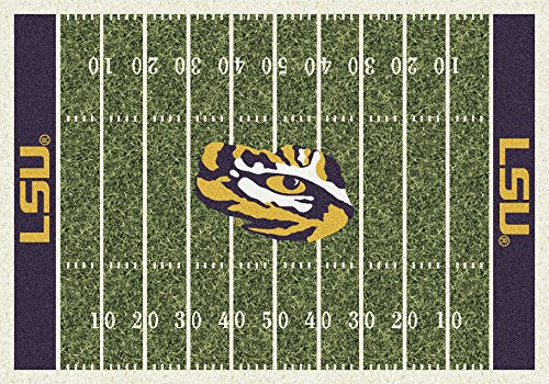 (Ship from USA) 8x11 Milliken LSU Tigers 1152 NCAA Home Field Area Rug - Approx 7'8