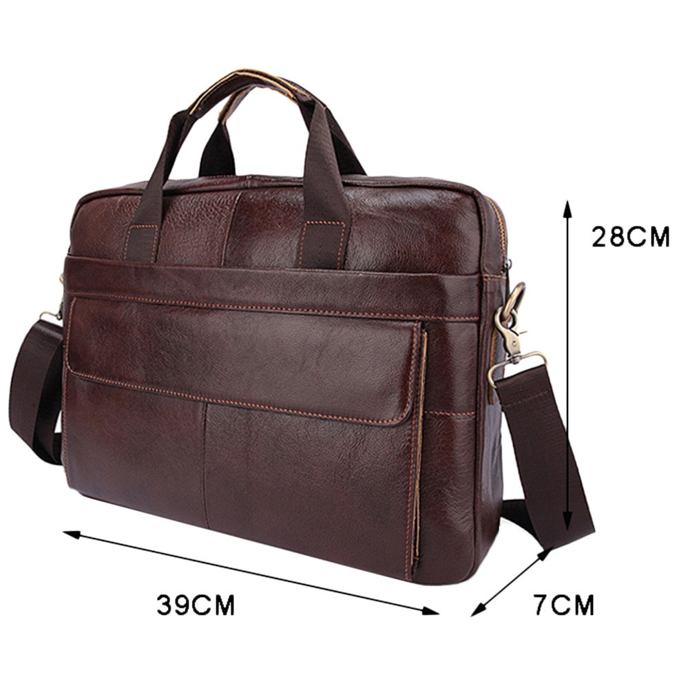 Zhuhaitf Mens Cowhide Leather Shoulder Bag Crossbody Bag Briefcase Handbags