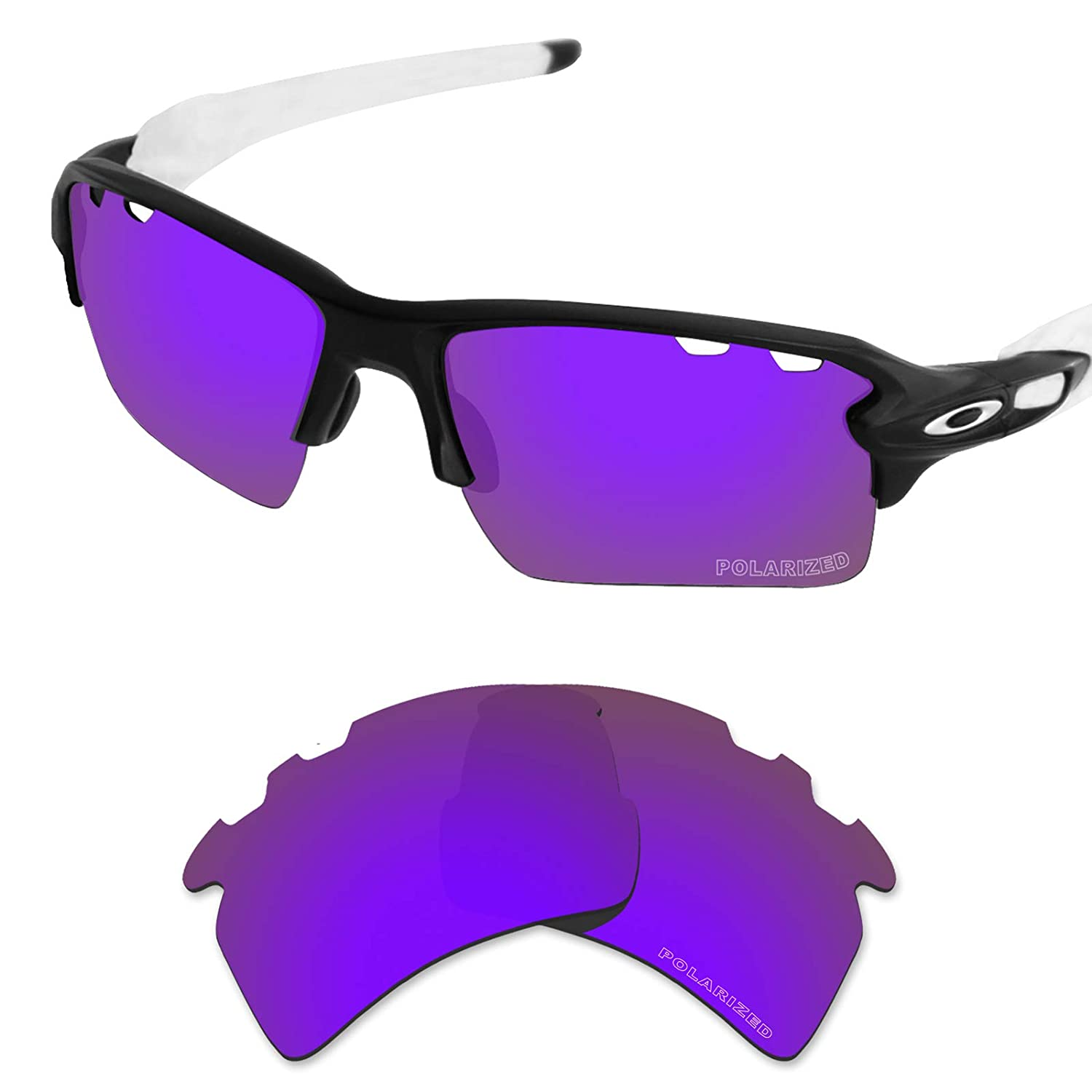 4f832acb0c Tintart Performance Lenses Compatible with Oakley Flak 2.0 XL Vented Polarized  Etched-Plum Purple  Amazon.ca  Clothing   Accessories
