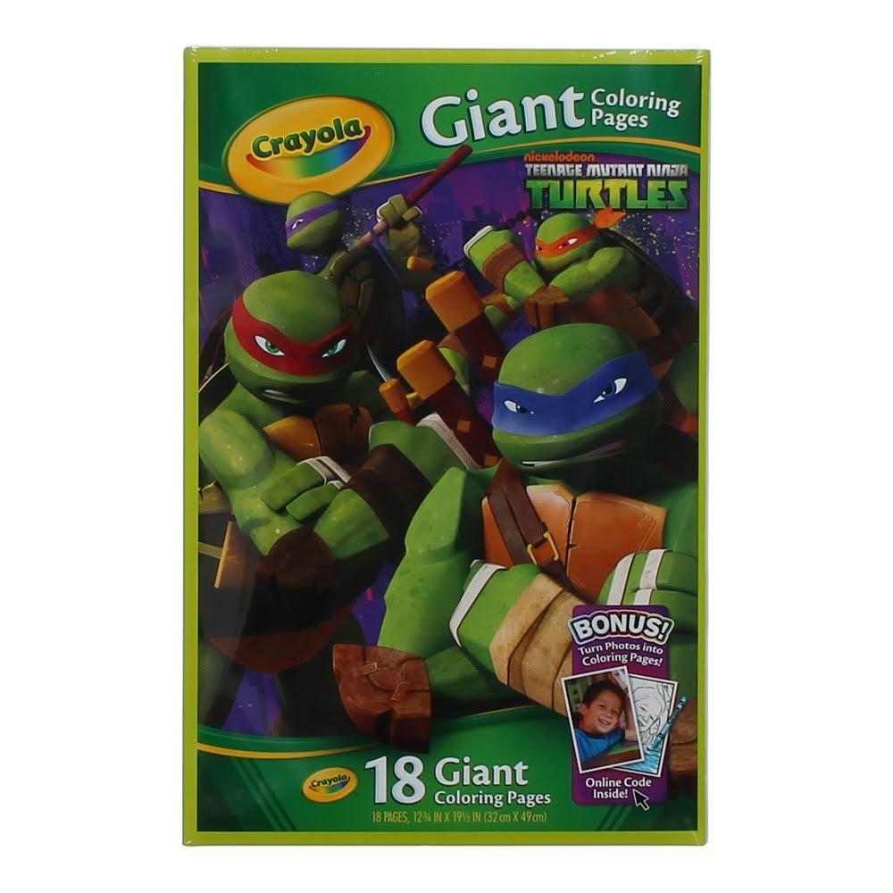 Amazon.com: Crayola Kids Teenage Mutant Ninja Turtles TMNT Giant ...