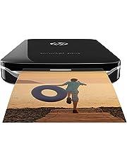 HP Sprocket Plus 2FR86A Stampante Fotografica Istantanea Portatile, Bluetooth 4.0, Misura 5.8 x 8.6 cm, Compatibile con Android e IOS, Nero
