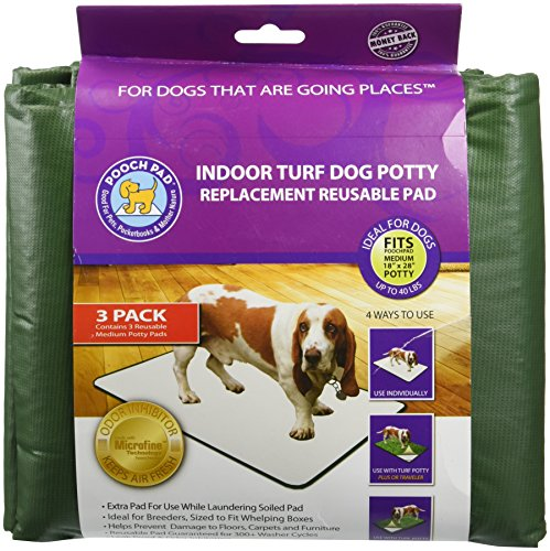 Pooch Pads Indoor Turf Replacement Pad Dog Potty (3 Pack), Medium/18