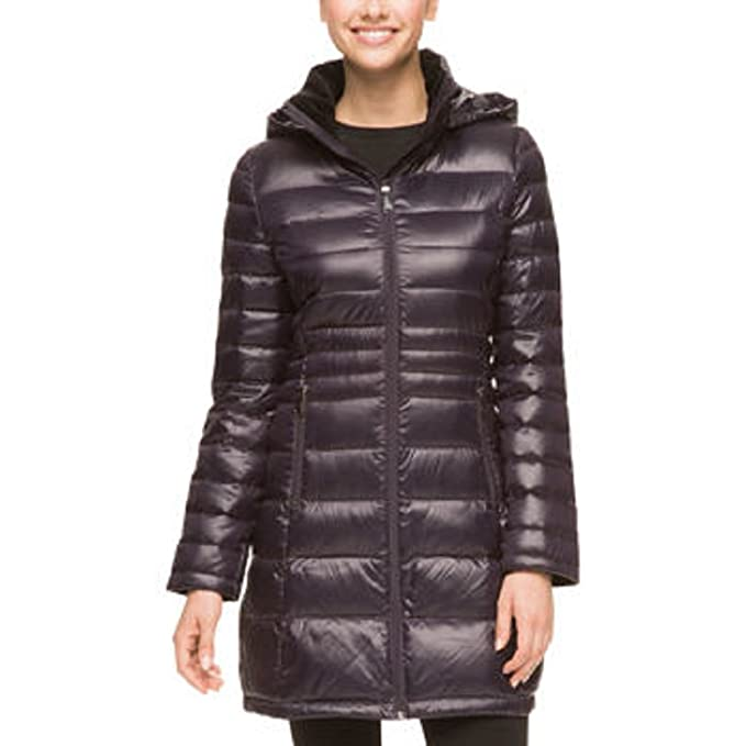 14c463d56ed Andrew Marc Ladies  Featherweight Long Packable Down Jacket-Orchid ...