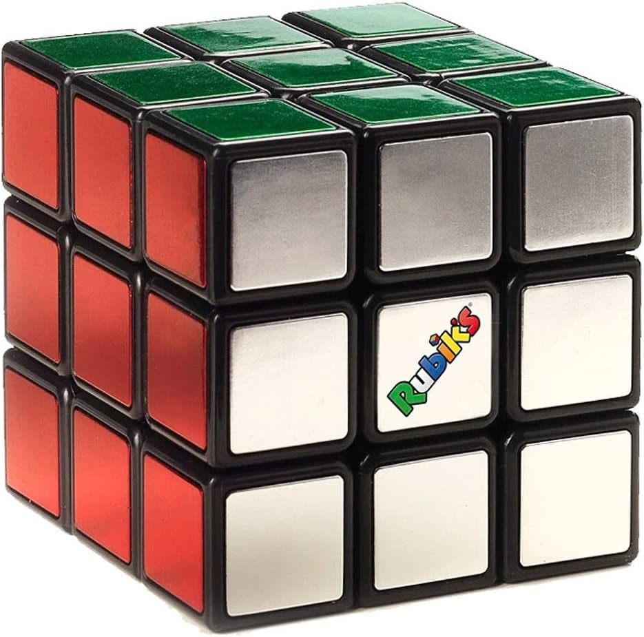 Classico Cubo di Rubik Originale 3x3 Metallico Elegante Versione Premium