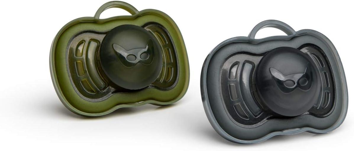 6 Months+, Black//Green 54.4 Gram Herobility HeroPacifier 2 Pack