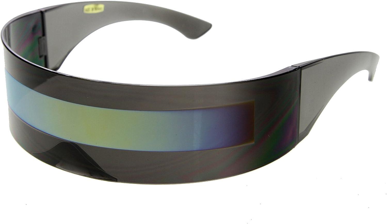 Futuristic Wrap Around Monoblock Shield Sunglasses