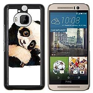 Caucho caso de Shell duro de la cubierta de accesorios de protección BY RAYDREAMMM - HTC One M9Plus M9+ M9 Plus - bebé lindo oso panda niños niños de