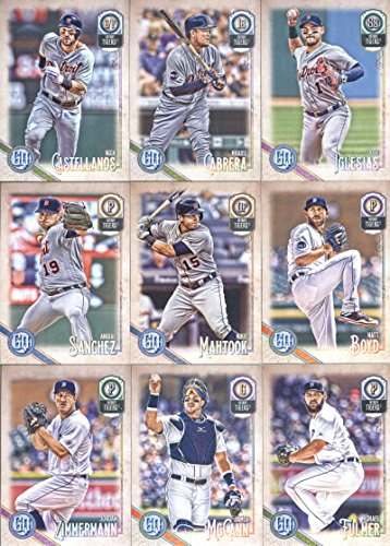 2018 Topps Gypsy Queen Detroit Tigers Team Set of 9 Cards: Nick Castellanos(#19), Matt Boyd(#34), Mikie Mahtook(#41), Jose Iglesias(#47), Anibal Sanchez(#52), Jordan Zimmermann(#109), James McCann(#116), Michael Fulmer(#130), Miguel Cabrera(#189) -