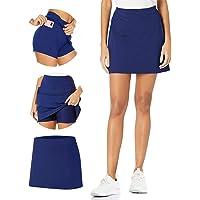 TAIPOVE Damer flickor golf tennisbana skort inbyggda shorts w/fickor atletisk aktiv söt sexig minikjol kurvig