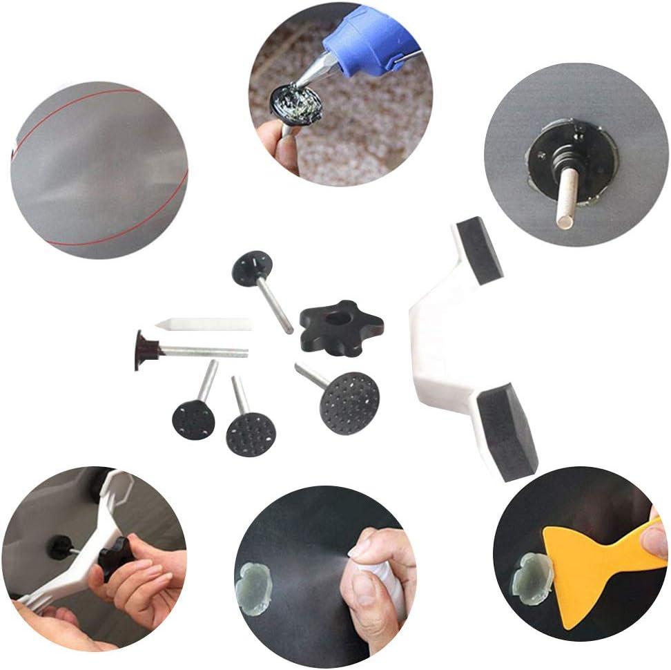 Paintless Dent Repair Kits with Glue Gun 7 * 270mm Glue Shovel Auto Body Dent Repair Kit,Automotive Sheet Metal Pit Repair Tool 10 Glue Sticks Glue Puller Repair Tools for Auto Dent Remover