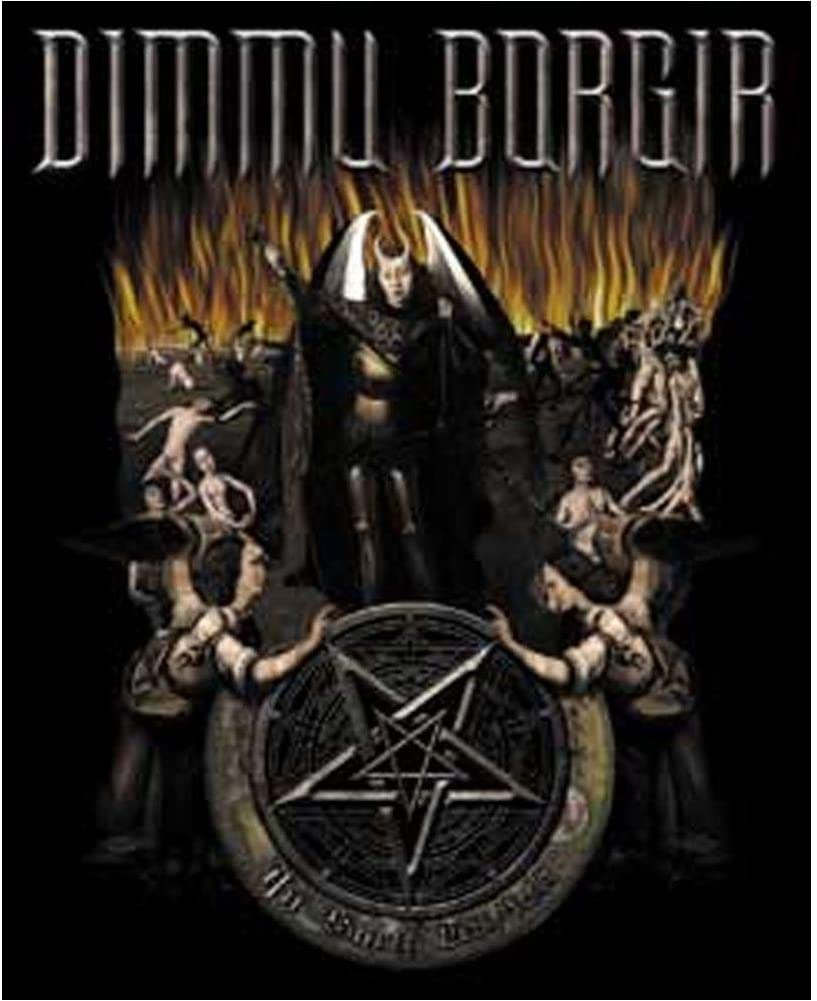 Officially Licensed Artwork DIMMU BORGIR Hell 4 Die-Cut Vinyl Sticker Aufkleber DECAL High Quality