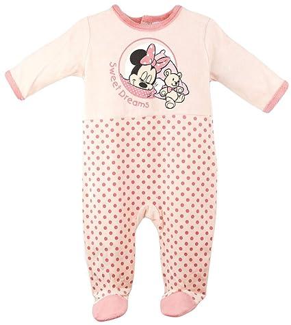 575e92c8e5ab2 Pyjama velours bébé fille Minnie Rose et Orange de 3 à 23mois (23 mois