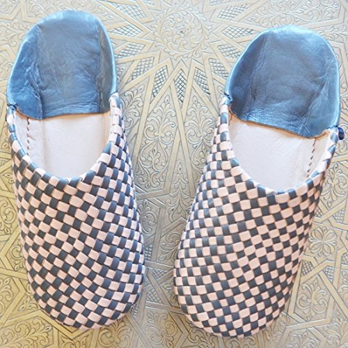 Smoked ZELLIGE Dear Sheepskin Morocco Slippers Pearl Babouche wTTEXqrS