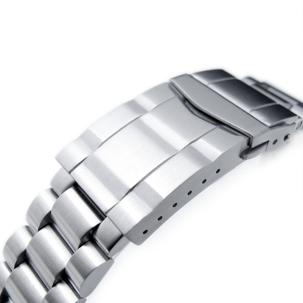 22mm Endmill 316L SS Watch Bracelet for Orient Mako II & Ray II, Submariner Clasp Brushed by Orient Replacement by MiLTAT (Image #5)