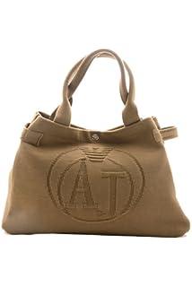 663e7ae737b1 Armani Jeans Shopping Bag Donna 9221365 6A753 Tessuto Doppi Manici Moda
