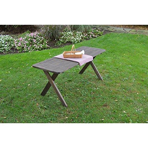 Kunkle Holdings LLC Cross Leg Picnic Table in Pressure Treated Pine w/Walnut Stain 4 feet 4 - Table Treated Pressure Picnic