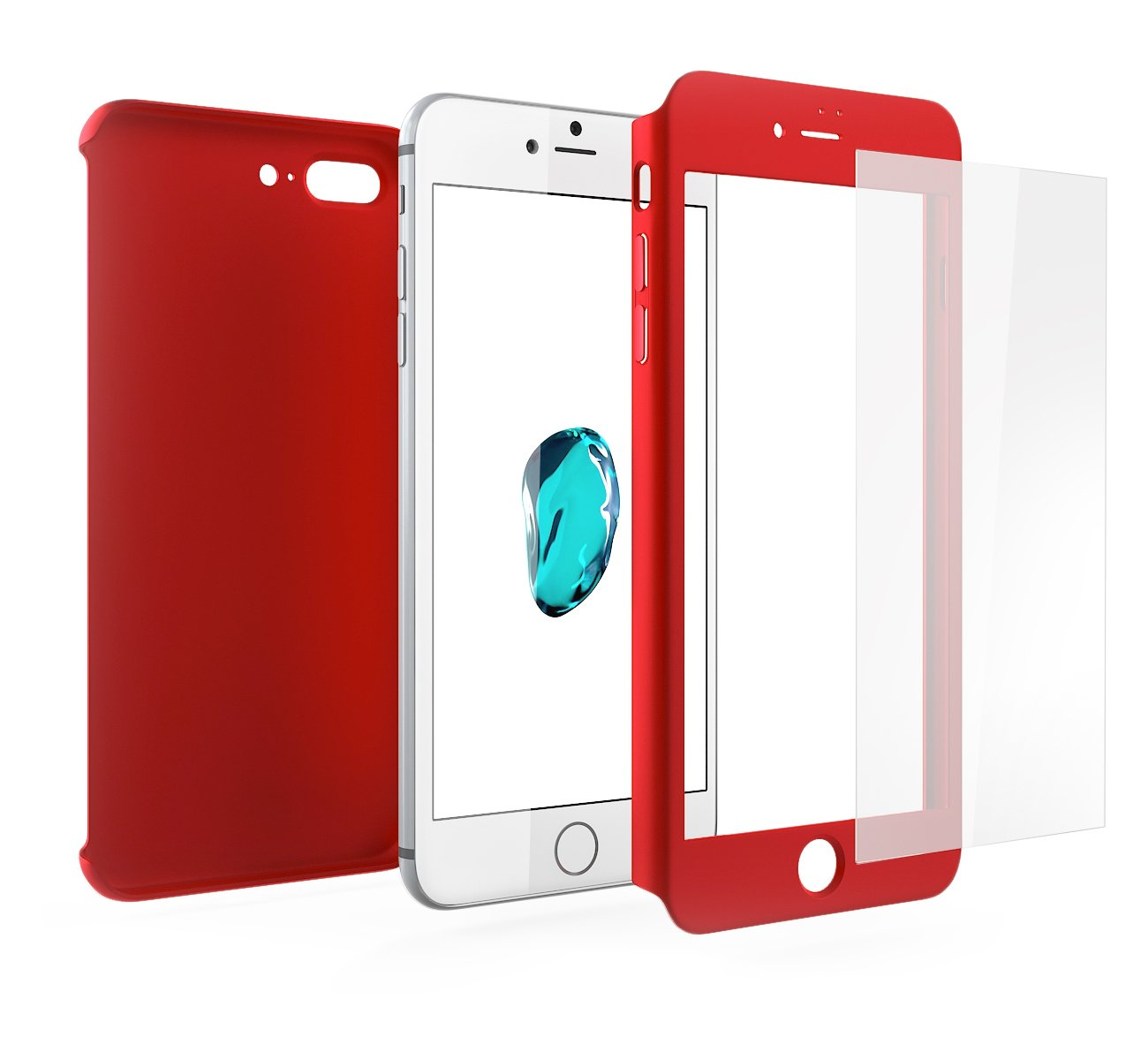 carcasa iphone 7 roja