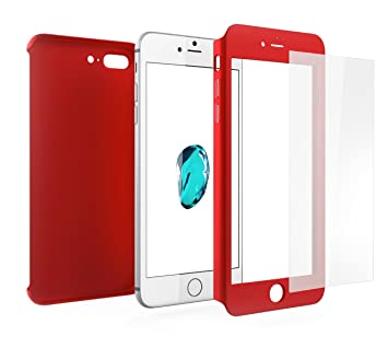coque rouge 360 iphone 8 plus