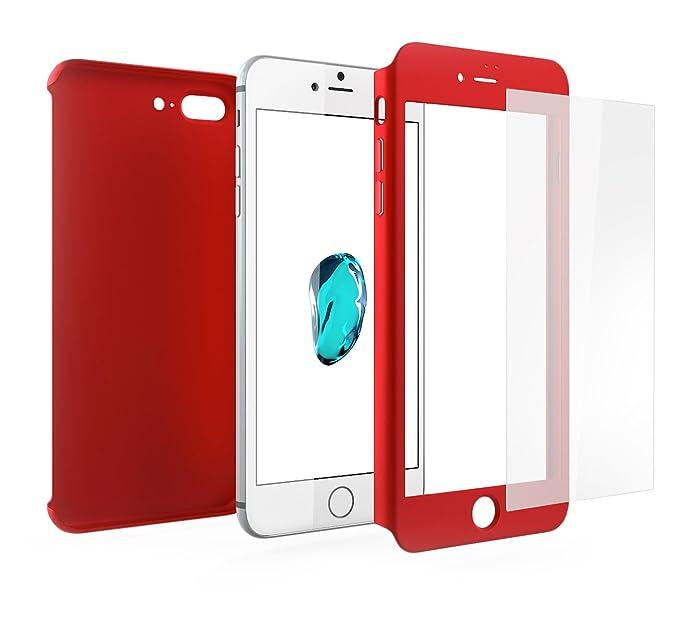 10 opinioni per Cover iPhone 8 PLUS 360 Gradi + Pellicola Vetro Temperato, Mobilyos® [ 360 ° ] [