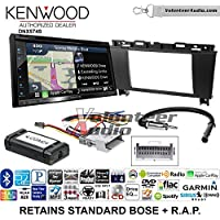 Volunteer Audio Kenwood DNX574S Double Din Radio Install Kit with GPS Navigation Apple CarPlay Android Auto Fits 2005-2009 Buick Lacrosse