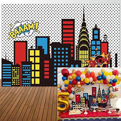 Themed Events - Allenjoy 8x6ft Superhero Themed Backdrops Super