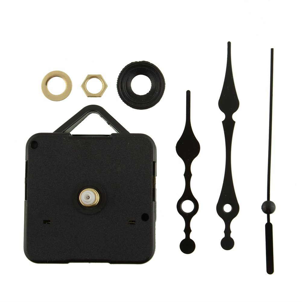Kicode Movimento orologio lungo mandrino Con il gancio nero Parti di riparazione DIY UKPPLBDH3995