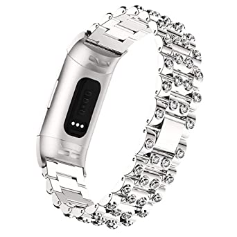 Amazon com: WISLECT Compatible Fitbit Charge 3 Bands for Women