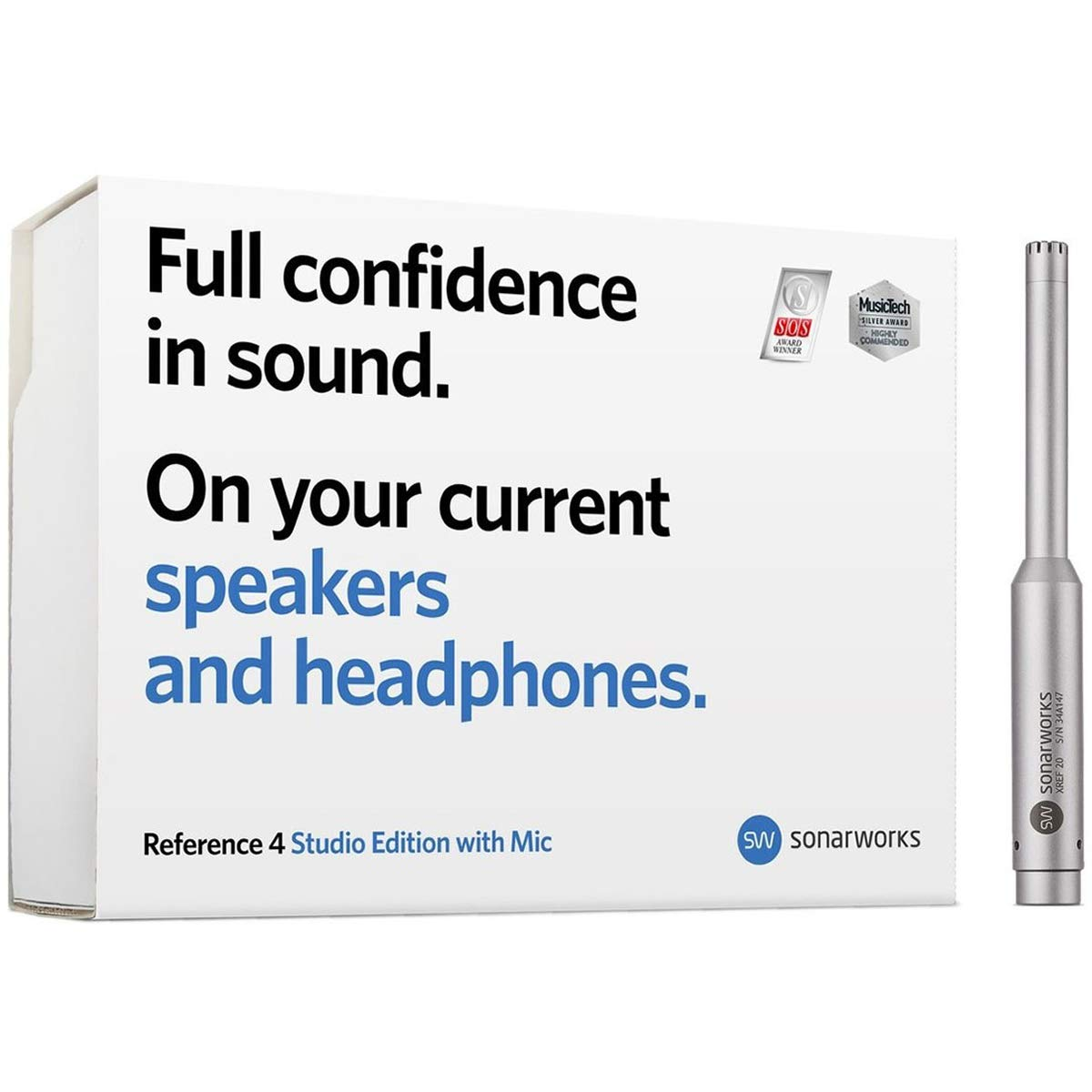 SONARWORKS Reference 4 Studio Edition Speaker, Monitor, and Headphone Calibration Software with Measurement Microphone