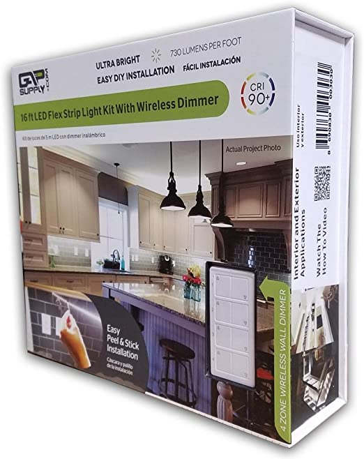 Amazon Com 16ft Kitchen Cabinet Led Light Kit With Remote Dimmer Home Kitchen