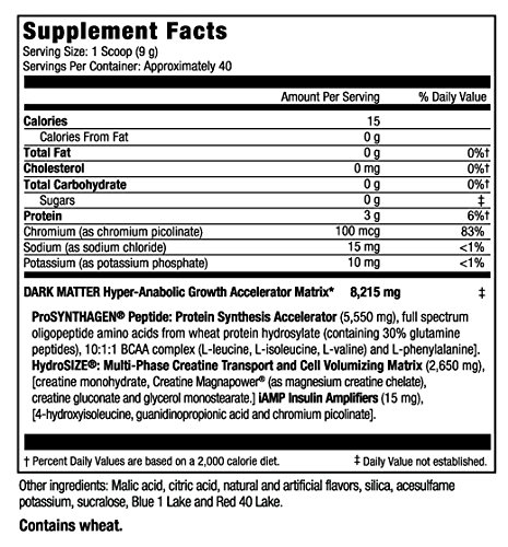 Maximum Human Performance Dark Matter Zero Carb Concentrate,13 Ounce