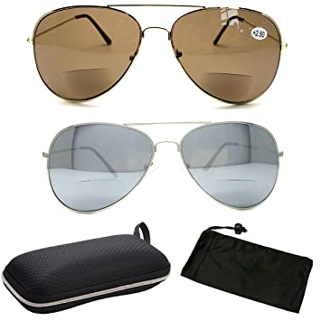 96a387923ce Premium Bifocal Metal Rectangular Shape Men Women Fashion Designer Sun  Readers ¡