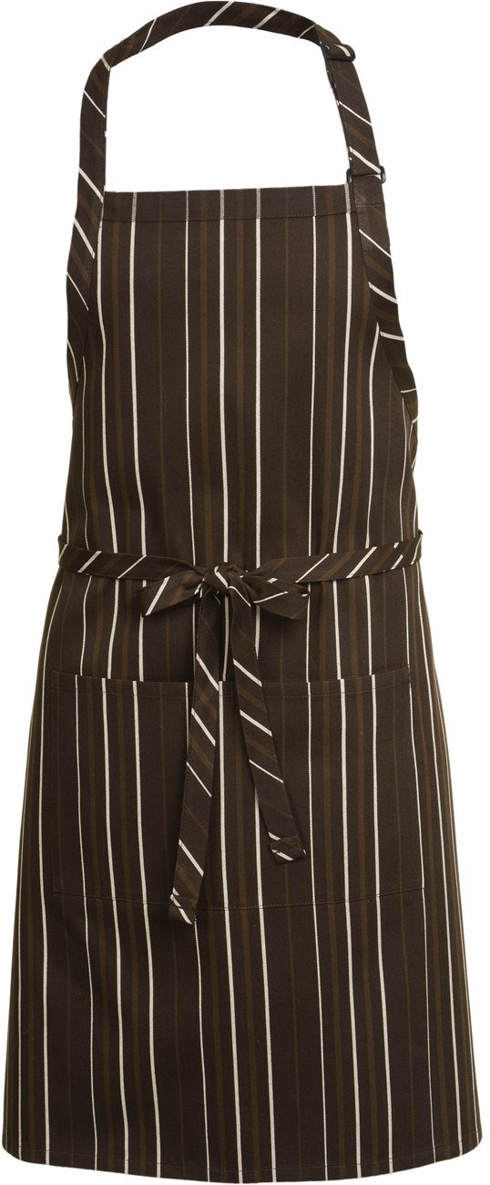 Chef Works Striped Bib Apron (A500) by Chef Works