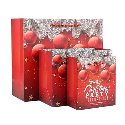 FHFF Bolsa de papel Kraft 7Pcs Bolsas De Regalo De Navidad Sacos De Santa Bolsa De Papel Kraft Caja De Recuerdos Para Niños Decoraciones Navideñas Para El Hogar 30X27X12Cm A: Amazon.es: Oficina