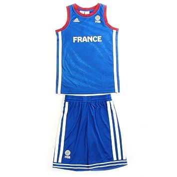 ensemble adidas performance mini kit enfant basketball france ffbb