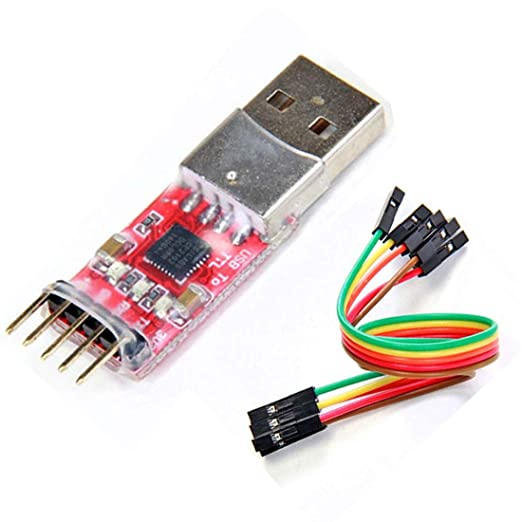 HiLetgo CP2102 USB 2.0 to TTL UART Serial Converter Module 5Pin STC PRGMR with Dupont Wire