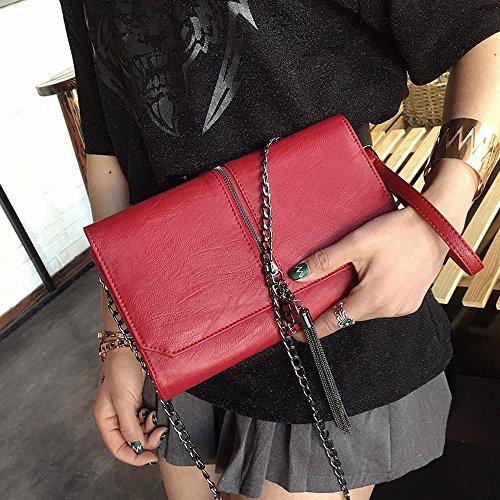 sac chaîne girl tendance main Baotan pompon Fashion sac bandoulière enveloppe à Aoligei B à envelopper personnalité sac messager cF4wIWqW7H
