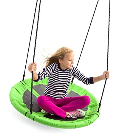 Amazon Com Giant Super Saucer Round Outdoor Tree Swing With Mesh