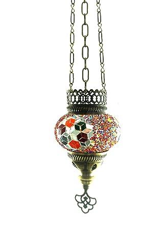 Hecha a mano con motivos orientales Turco mosaico colgante ...