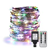 ErChen Remote Control Adapter Power Timer Dimmable Led String Lights,100FT 300 LEDs Fairy