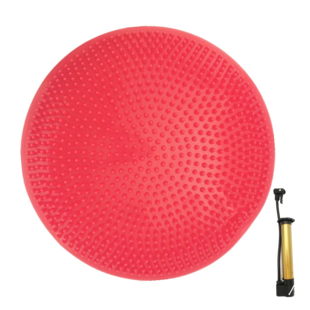 TMY Balance Cushion Air Cushion Massage Cushion Yoga Balance Pad Cushion Explosion-Proof Children Training Ball with Pump (Color : Red)
